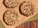 Рецепта Протеинови бисквити с овесени ядки без захар, с извара, чиа, мед и канела